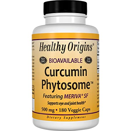 Healthy Origins Curcumin Phytosome Featuring Meriva SF 500 mg, 180 Veggie Caps