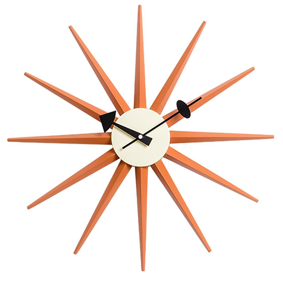 サンバーストクロック オレンジ ジョージ ネルソン デザイナー壁時計 (オレンジ) B074P6KPMQオレンジ