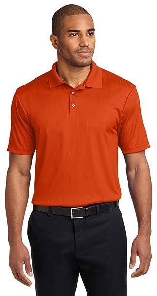 9827b5d9a Port Authority Performance Fine Jacquard Polo, Autumn Orange, X-Small