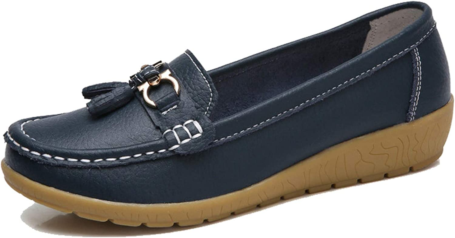 Shoes Woman Genuine Leather Women Flats Slip On Womens Loafers Female Moccasins Shoe Plus Si Lightblue