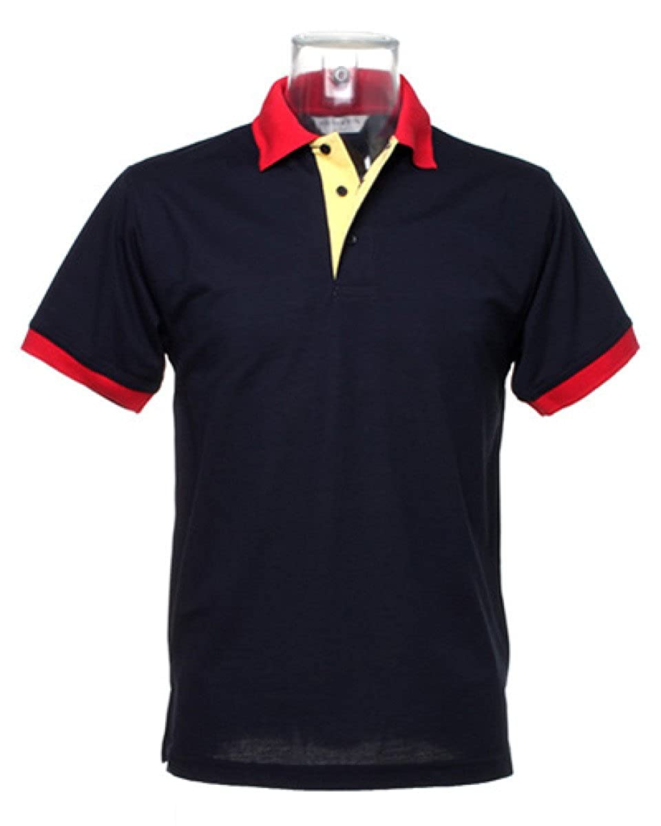 Kustom Kit Contrast collar and placket polo