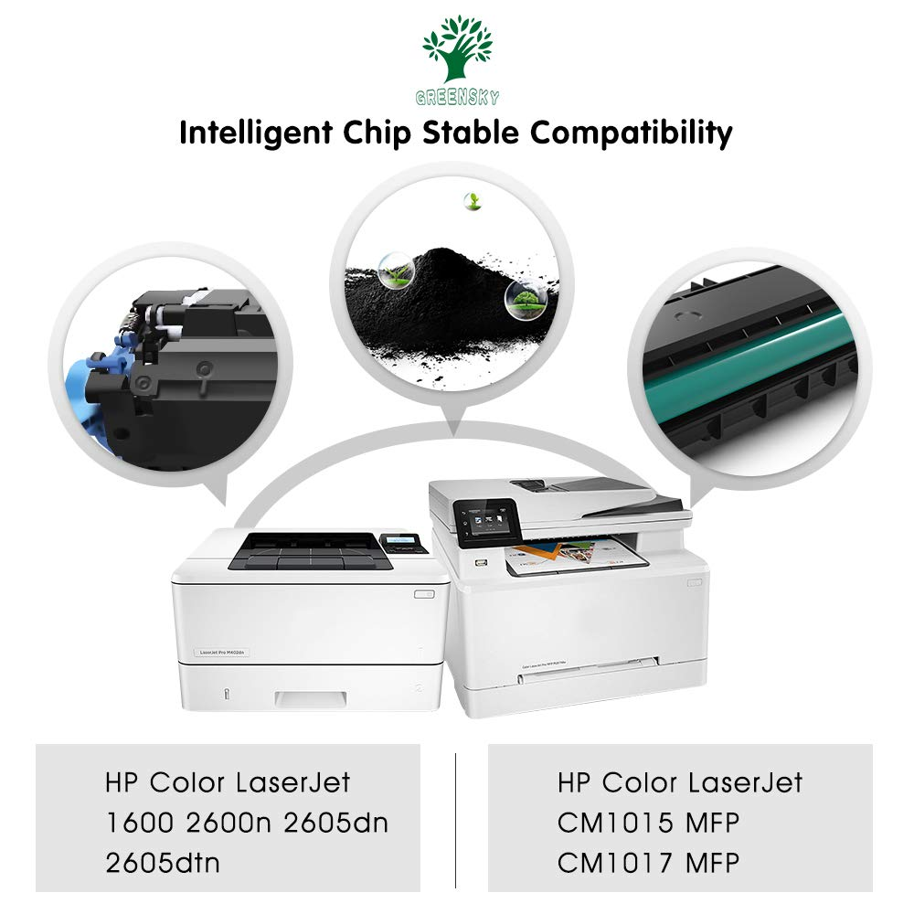 ... HP Q6000A Q6001A Q6002A Q6003A (124A) Fit for HP Color LaserJet 1600  2600n 2605dn 2605dtn CM1017 CM1015 MFP Printer-(1B1C1Y1M, 4Packs): Office  Products