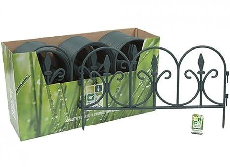 Steccato Estensibile Giardino : Recinzione da giardino per bordure da giardino amazon