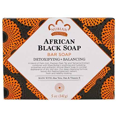 African Heritage Soap Black Nubian (Nubian Heritage Soap Bar, African Black, 5 Ounce)