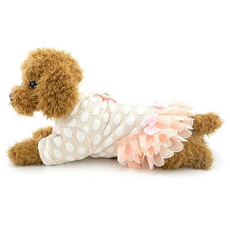 selmai pequeña niña perro vestidos tutú de lunares patrones de falda ropa de perro
