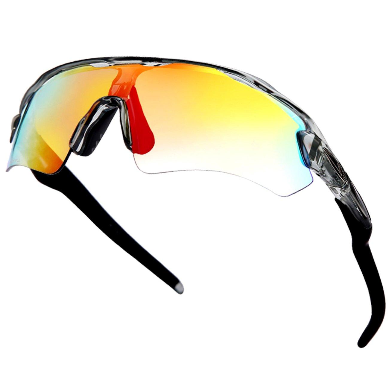 cabfea6014 Amazon.com   Cycling Glasses Wheel UP Photochromic Anti-UV400  Explosion-Proof PC Intelligence Lenses Aerodynamics MTB Sports Bike  Sunglasses Eyewear ...
