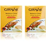 Girnar Instant Premix Masala Chai Low Sugar - 80 grams, 10 Sachets (Pack of 2)