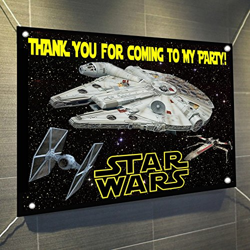 Star Wars Banner Spaceships Space Ships Large Vinyl, used for sale  Delivered anywhere in USA