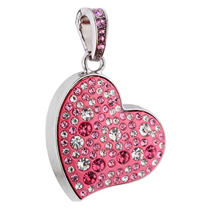Quace Pink Heart Cool Fancy USB Flash 16 GB Pen Drive Pen Drives at amazon