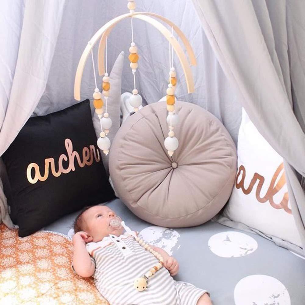 12 1 20 inches YMCHE Lit B/éb/é Lit Mobile Bell Toy Support Infant en Bois Wind Chimes Tente /à Suspendre