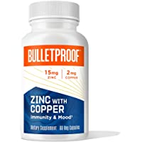 Bulletproof Zinc with Copper, Reliable and Quick Source of Energy (60 Capsules)