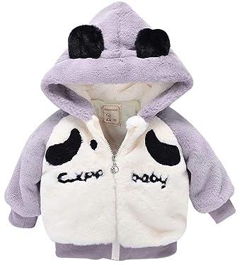 c5a7a2e71 Amazon.com  UNIQUEONE Kid Girls Boys Fleece 3D Cartoon Ear Hooded ...