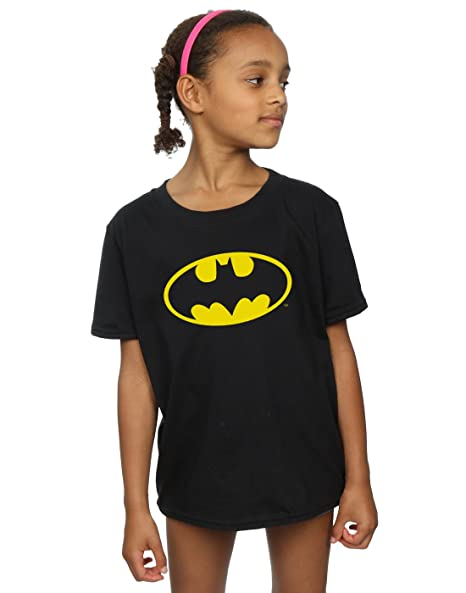 0af0c650 Amazon.com: DC Comics Girls Batman Logo T-Shirt: Clothing