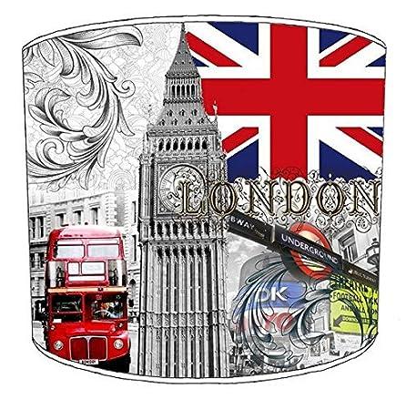 Premier Lampshades 20,3cm Plafond London City Big Ben Cabine téléphonique Taxi Noir Abat-Jour imprimé 5, 20,3 cm 3cm Plafond London City Big Ben Cabine téléphonique Taxi Noir Abat-Jour imprimé 5