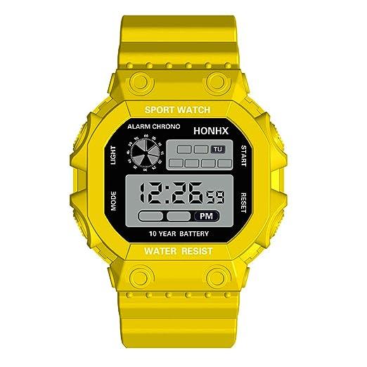 Reloj electrónico HONHX 105 de un Ojo Reloj Multifuncional LED Digital a Prueba de Agua Relojes Hombre Deportivo: Amazon.es: Relojes