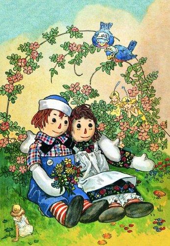 Raggedy Ann Andy Birthday - Raggedy Ann & Andy Hugging Birthday Greeting Card