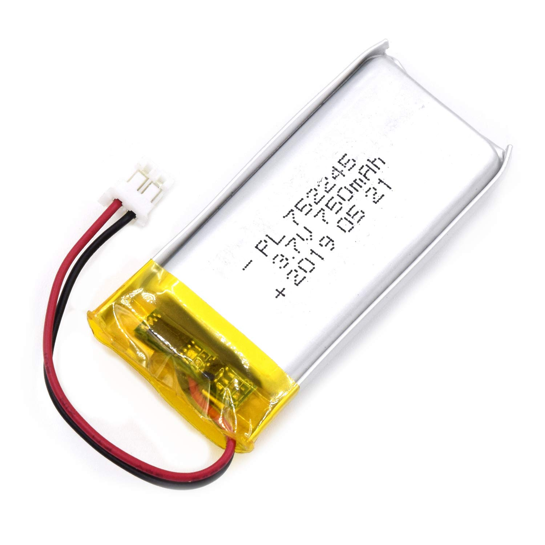 Bateria Lipo 3.7V 750mAh 752245 Recargable JST Conector