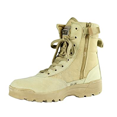 697248ba32e Gaorui New Tactical Trendy Comfort Leather Combat Military Ankle Boots Army  Shoes