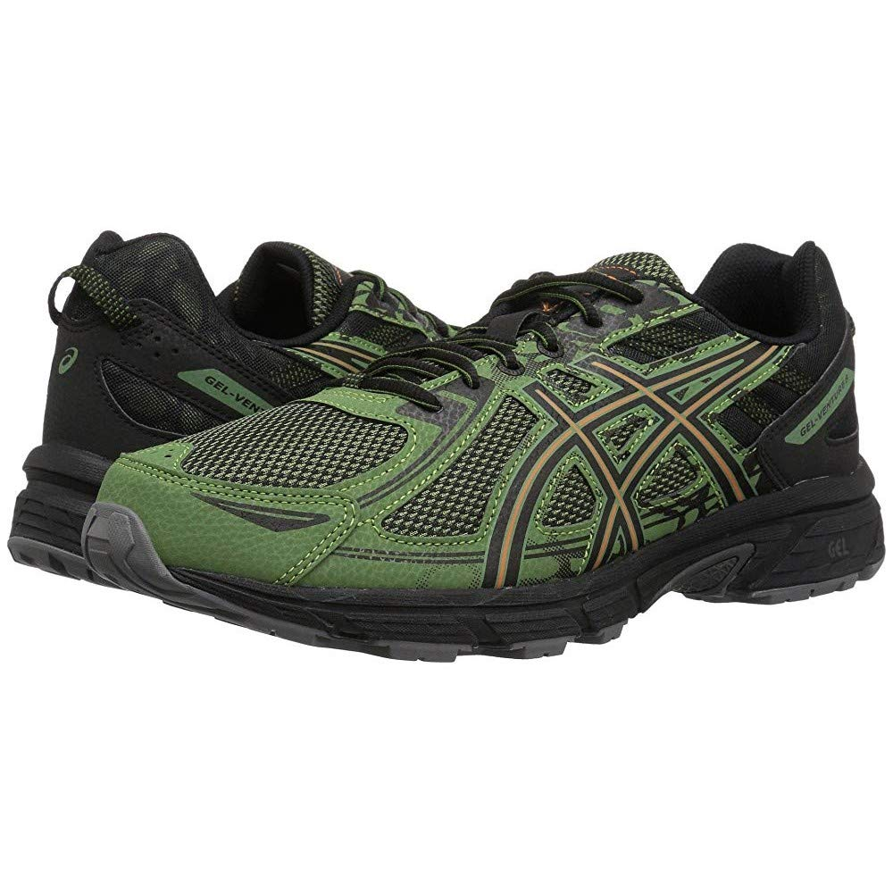 ASICS Mens Gel-Venture 6 Running Shoe, Cedar Green/Lava Orange, 10.5 by ASICS