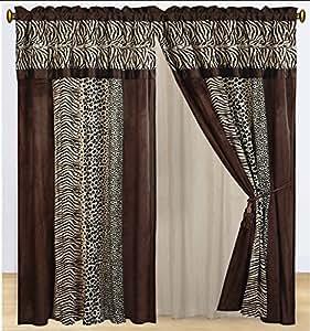 Amazon Com Dovedote Kenya Zebra Leopard Animal Print Faux