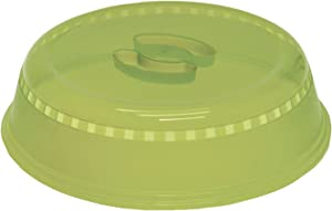 """Starfrit 080499-006-0000 10.25"""" Microwave Food Cover, Green"""