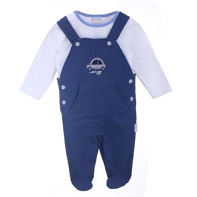 Nacimiento Bebé Niño Conjunto, Pelele e Camiseta, azul, talla 68, 6 meses: Amazon.es: Ropa y accesorios