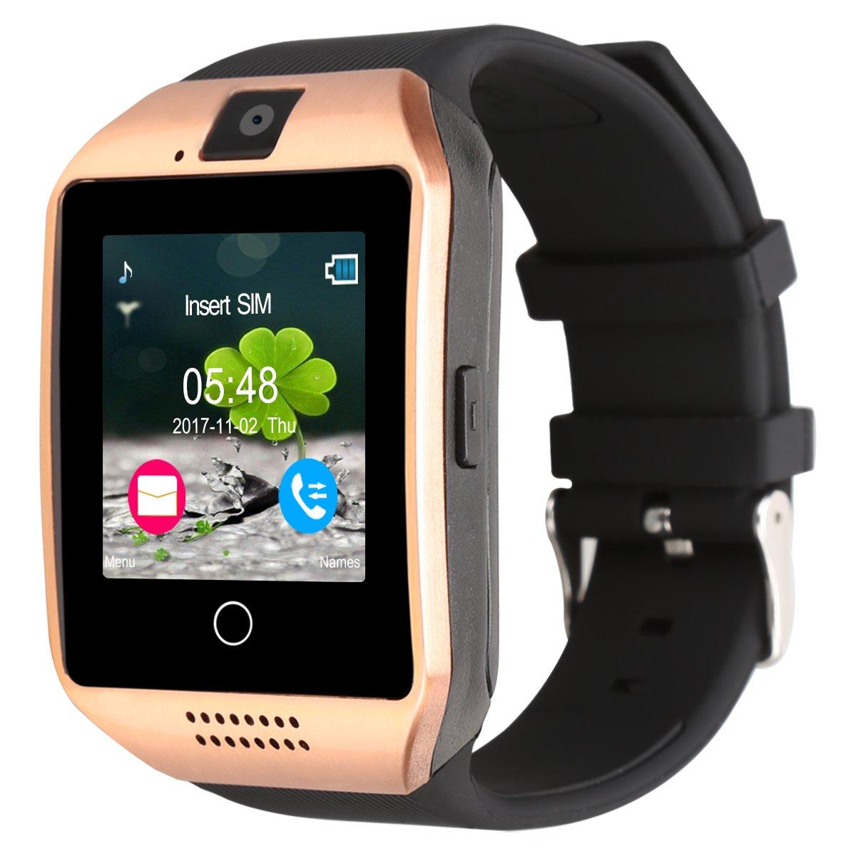 Kivors Reloj Inteligente, Q18 Bluetooth Smartwatch Bluetooth 3.0 HD Pantalla Análisis de Sueño, Podómetro, Monitor del Sueño, Fitness Tracker con cámara ...