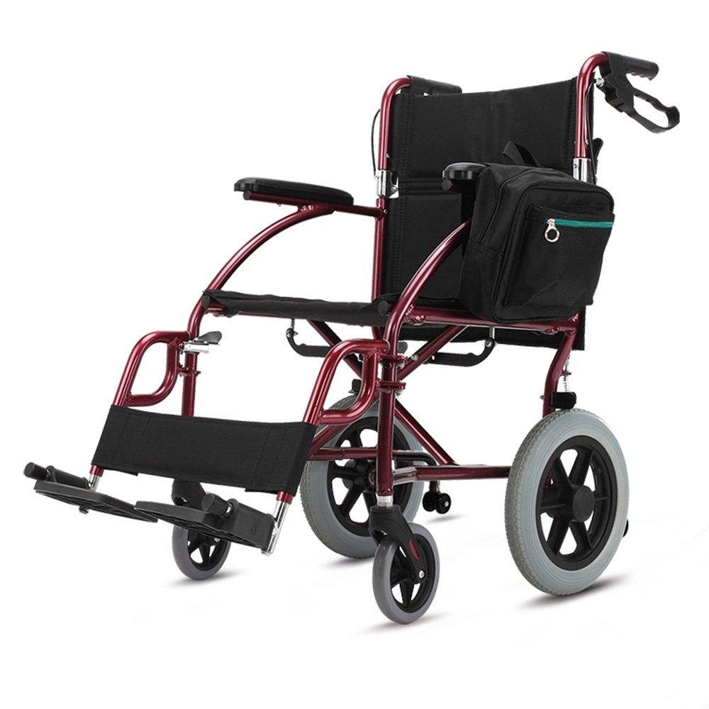 QFFL 車いすシニア折り畳み式車椅子障害者用可搬型厚手アルミニウム合金スクーター90 * 105cm 松葉杖ウォーカー B07B49DNJL