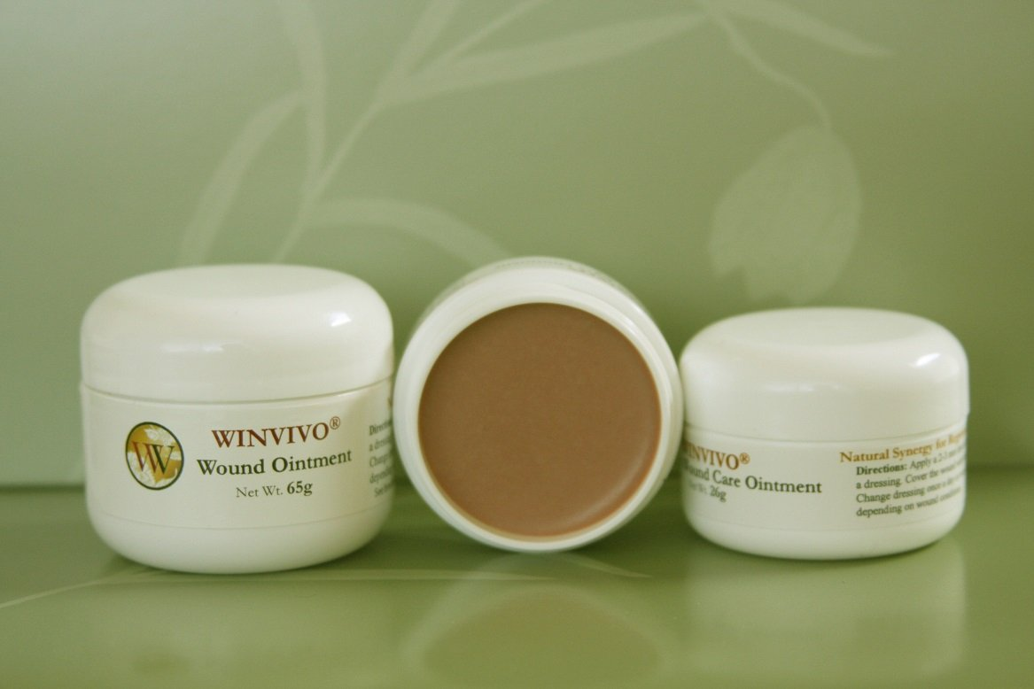WINVIVO Wound Ointment- Natural Synergy for Regenerative Healing (65g jar) by WINVIVO