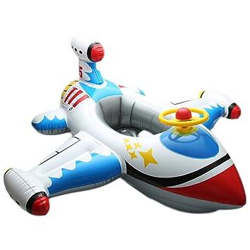 Clerfy Acc Flotador Flamenco para Niños y Adultos, Flamenco Hinchable De Piscina, Lindo el avión Colchonetas Piscina para Baños De Sol (4)