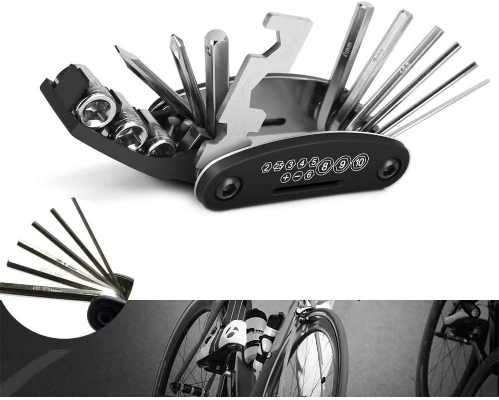 Repair kit for Bicycle auto Mechanic Motorcycle Foldable Emergency Tool 16-in-1 Multi-Function Bicycle Tool