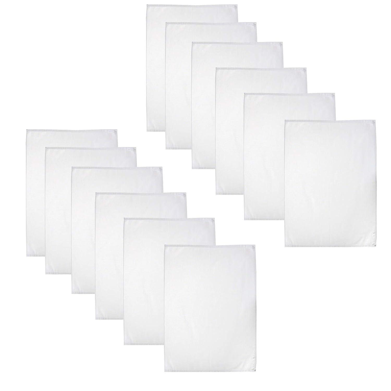 Bianco 100/% Cotone Casa Colori Strofinaccio 50 x 70 cm 6 Pezzi Cotone Bianco