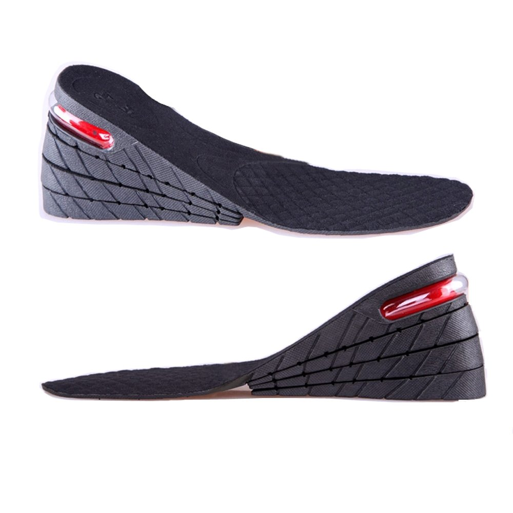 Height Increase Insole, 4 -Layer Shoe Insoles Lift Elevator Taller Pads Inserts 9cm about 3.54 Inch For Men And Women
