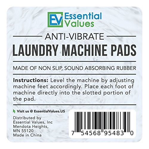 Anti-Vibration Laundry Machine Pads (4 PK)- Works Best For Any Washer & Dryer Machine, Extremely Durable Rubber – Anti-Walk, Noise Reducing, Shake Free, Shock Absorbing Pads By Essential Values by Essential Values (Image #7)