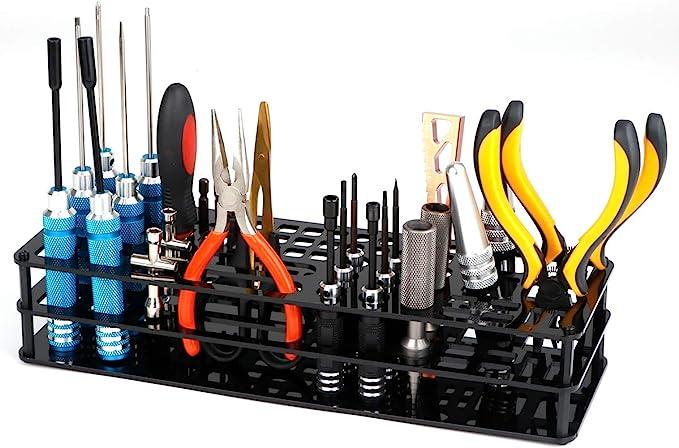 Hyx Repair Tool S-Shaped Plastic Holes Storage Rack Tweezers and Screwdrivers Repair Tool Kit Stand Holder
