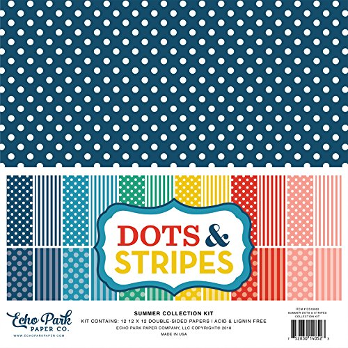 Echo Park Paper Company Summer Dots & Stripes Collection Kit