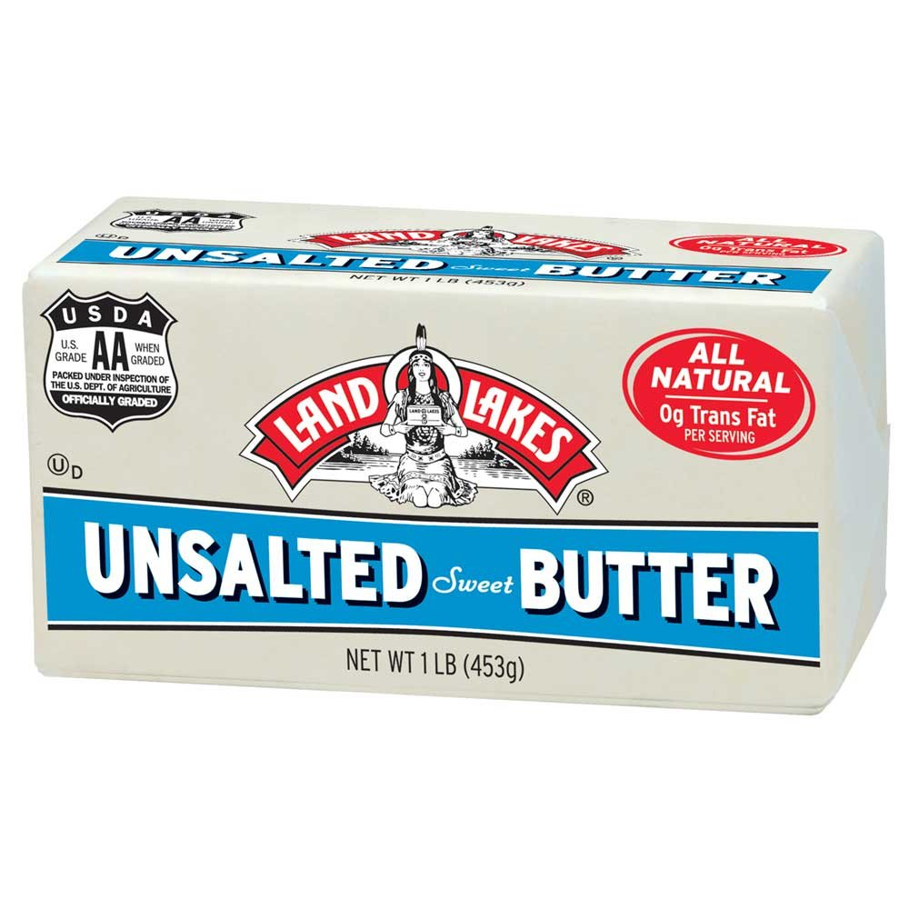 Land O Lakes Solid Unsalted Butter, 1 Pound -- 36 per case ...