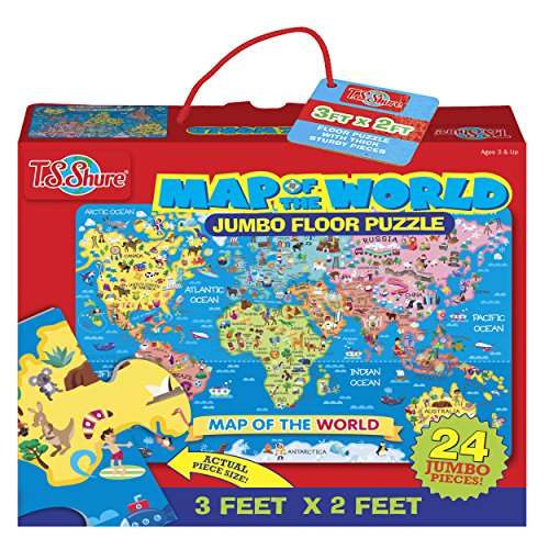 T.S. Shure - World Map Jumbo Floor Puzzle