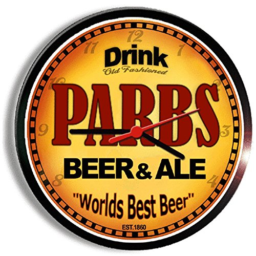 PARBS beer and ale cerveza wall clock