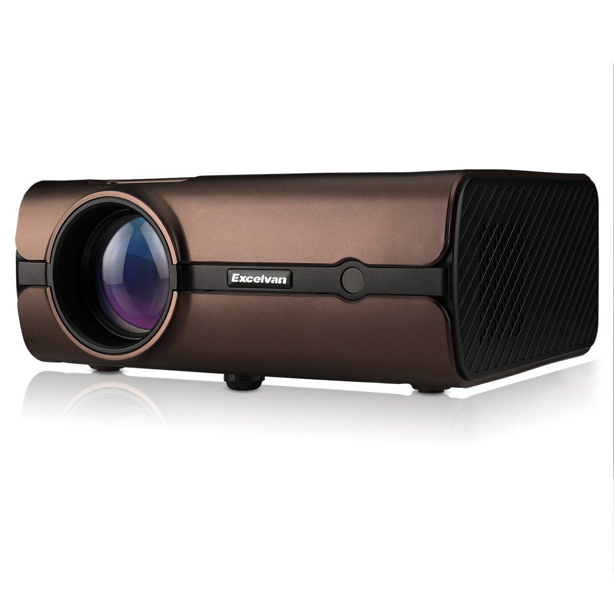 Proyector LED de 2000 lúmenes,Excelvan BL45 Proyector, Soporta 1080p Full HD,HDMI,VGA,USB,Tarjeta de Memoria,para Cine en Casa,TV,Computadoras ...