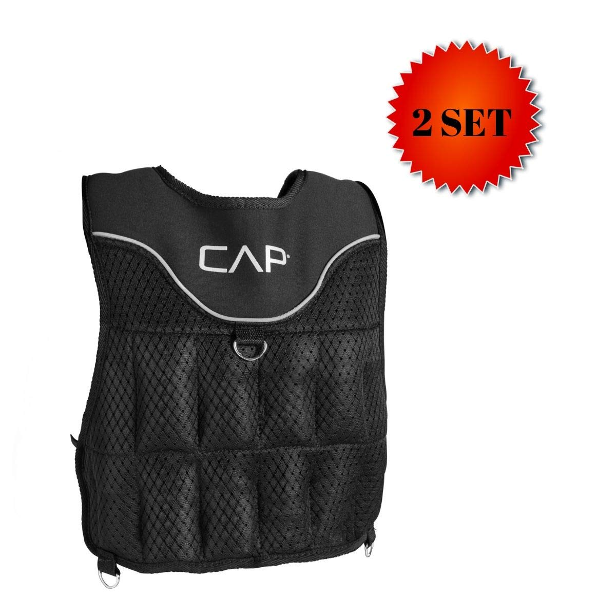 CAP Barbell (HHWV-CB020C Adjustable Weighted Vest, 20-Pound (Original Version - 2 Set)