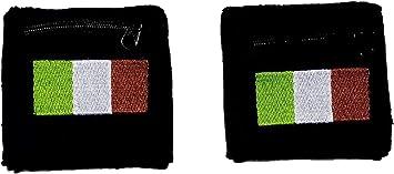 R&F srls - Par de puños de la Bandera de Italia Italiana con Bolsillo con Cremallera y muñequera de Arbitro Europei: Amazon.es: Deportes y aire libre