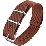 jStrap Watch Band NATO Nylon Ballistic Straps Canvas Straps with Stainless Steel Buckle(18mm,20mm,22mm)