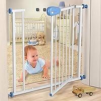 Infantastic Türschutzgitter Baby Schutzgitter 74-87 cm   lackierte Stahlkonstruktion   Treppenschutzgitter, Absperrgitter, Gitter, Haustier