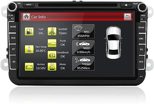 AUMUME 8 Pulgadas Radio para VW Seat Golf Polo Passat Pantalla con ...