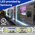 Crystal Vision Genuine Samsung Plug and Play Super Bright StoreFront LED 50ft 120W (White) Made in Korea by Crystal Vision Technology