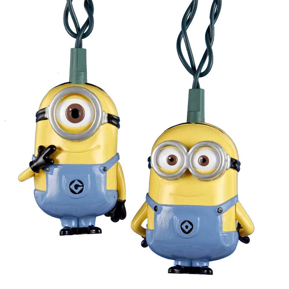 Despicable Me Dave and Stuart Minions Christmas Light Set with 10 ...