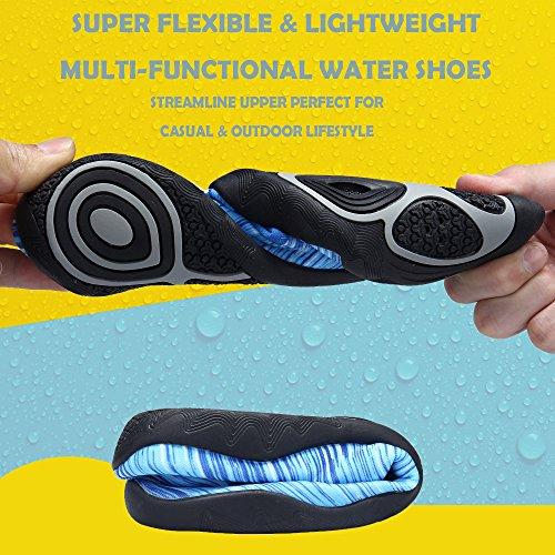 SIKELO Leichte Männer und Frauen Quick-Dry Sport Wasser Schuhe Blaue Linie