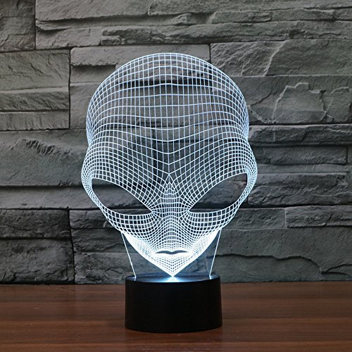 FLYMEI 3D Optical Illusion Desk Lamp Unique Night Light for Home Decor 7 Colors Changing USB Powered Touch Button LED Table Lamp - BEST Gift for Kids/ Friends/ Birthdays/Holidays