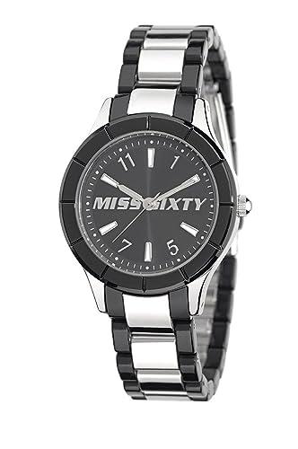 Miss Sixty Smally SG8001 - Reloj analógico de Cuarzo para Mujer, Correa de Acero Inoxidable: Amazon.es: Relojes